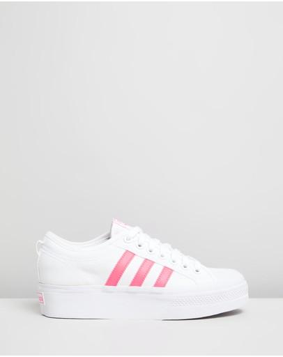 Adidas Originals Nizza Platform - Women's Footwear White & Signal Pink