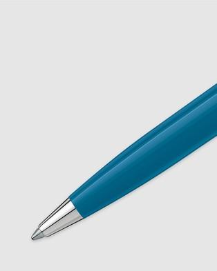 Montblanc PIX Petrol Blue Ballpoint Pen - All Stationery (Petrol Blue)