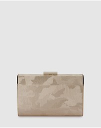 Olga Berg - Bae Metallic Camo Clutch