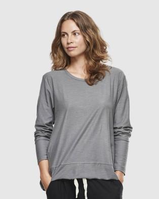 Cloth & Co. - Organic Cotton Slub Long Sleeve T-Shirts (Charcoal)