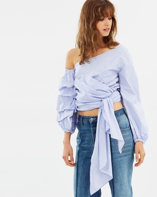 Maurie & Eve – Gabine Blouse Classic French Blue