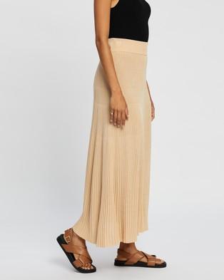AERE Knit Pleat Skirt - Pleated skirts (Neutral)