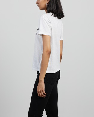 AllSaints - Dropout Mic Tee T-Shirts & Singlets (Optic White)