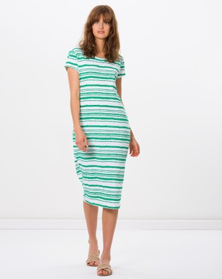 Kaja Clothing – Marissa Dress Green Stripe