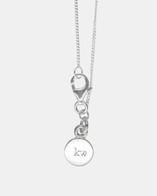 Karen Walker D Initial Love Letter Necklace - Jewellery (Sterling Silver)