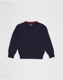 Polo Ralph Lauren - Long Sleeve V Neck Sweater - Kids