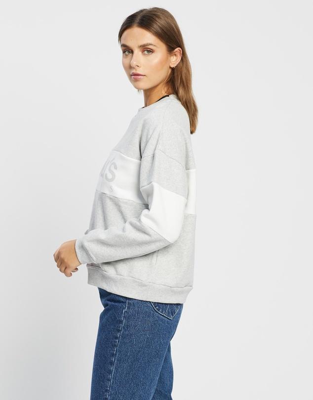 Women Split Logo Sweater