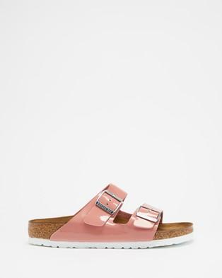Birkenstock Arizona Regular Birko Flor   Women's - Sandals (Old Rose)