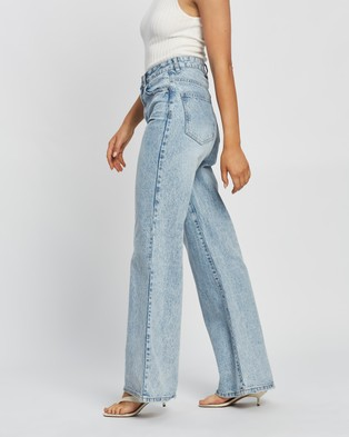 Cotton On Long Wide Jeans - High-Waisted (Avalon Blue)