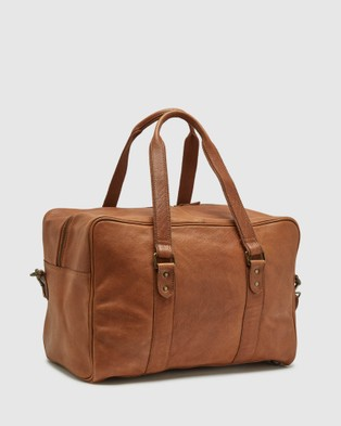 Oxford Beckett Leather Weekender Bag - Bags (Brown)