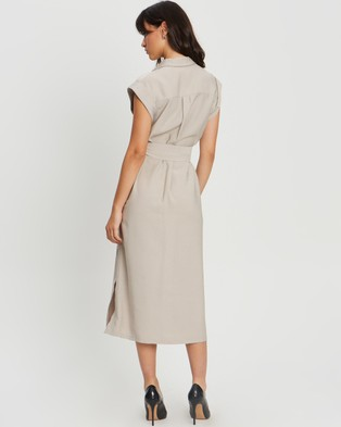 Willa Kobe Shirt Dress - Dresses (Sand)