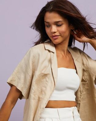 Cools Club Safari Shirt - Tops (Sand Linen)