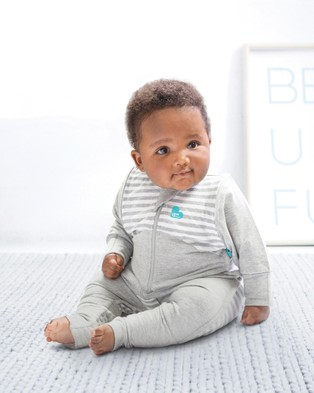 Love to Dream - SWADDLE UP?äó Transition Suit 1.0 Tog - Sleeping bags (Grey & White Stripe) SWADDLE UP?äó Transition Suit 1.0 Tog