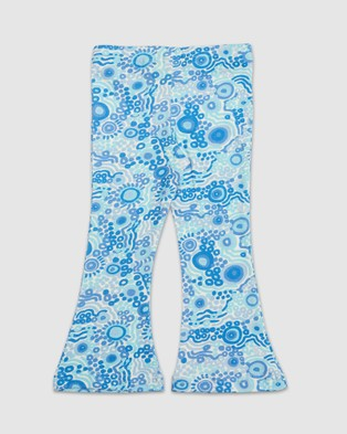Amber Days Kuu Dreaming Bell Bottoms Pants Blue