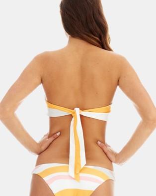 RH Swimwear - Knot Bandeau Bikini Top - Bikini Tops (Sunset stripe) Knot Bandeau Bikini Top