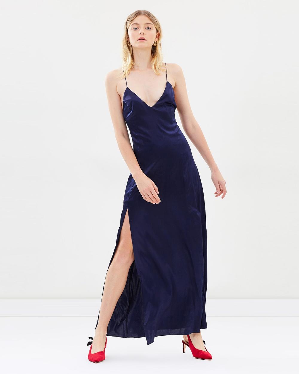 Hansen & Gretel Zen Silk Dress Dresses Deep Navy Zen Silk Dress