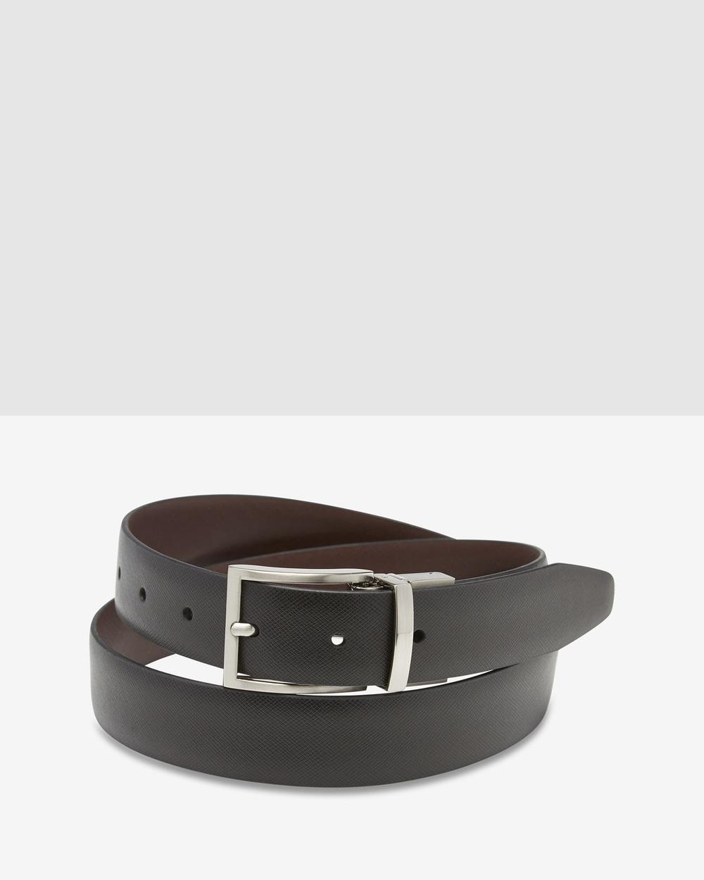 Oxford Harrison Reversible Belt Belts Black/Dark Brown