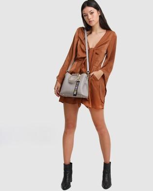 Belle & Bloom - Twilight Leather Cross Body Bag - Bags (Grey) Twilight Leather Cross-Body Bag
