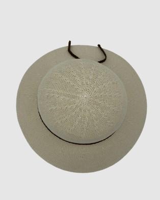 Jacaru Jacaru 1862 Sun Hat Round - Hats (Nude)