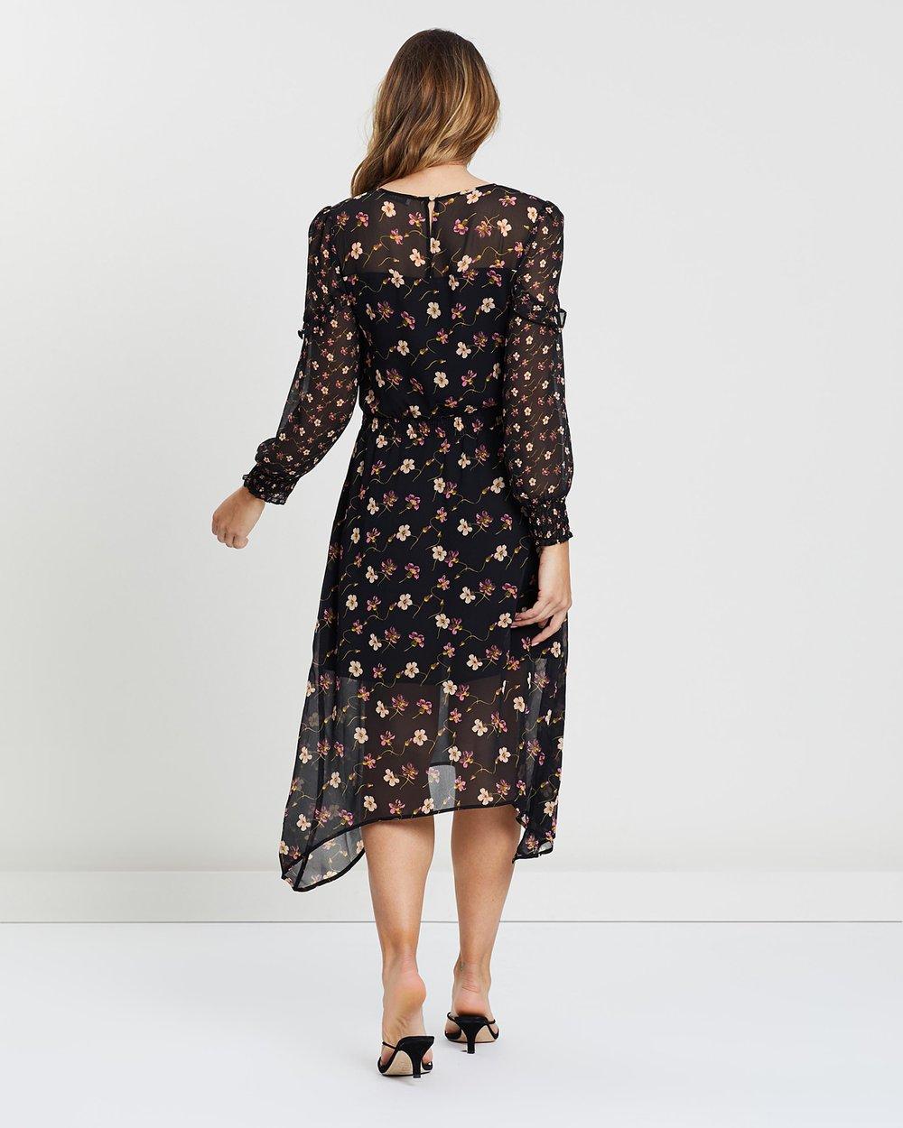 309d82dcd0fc Frida Floral Long Sleeve Midi Dress by Oasis Online