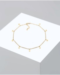 Elli Jewelry - Necklace Women Choker Chain Star Astro Look Basic 925 Sterling Silver Gold Plated