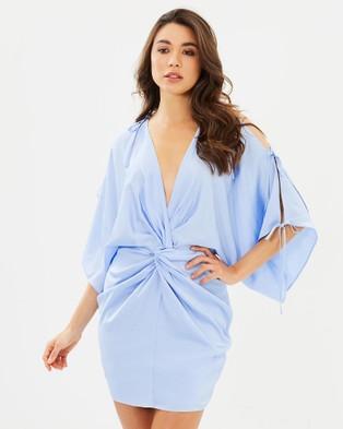 Shona Joy – Calypso Twist Kimono Mini Dress – Dresses (Blue)