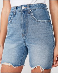 Cotton On - High Denim Bermuda Shorts