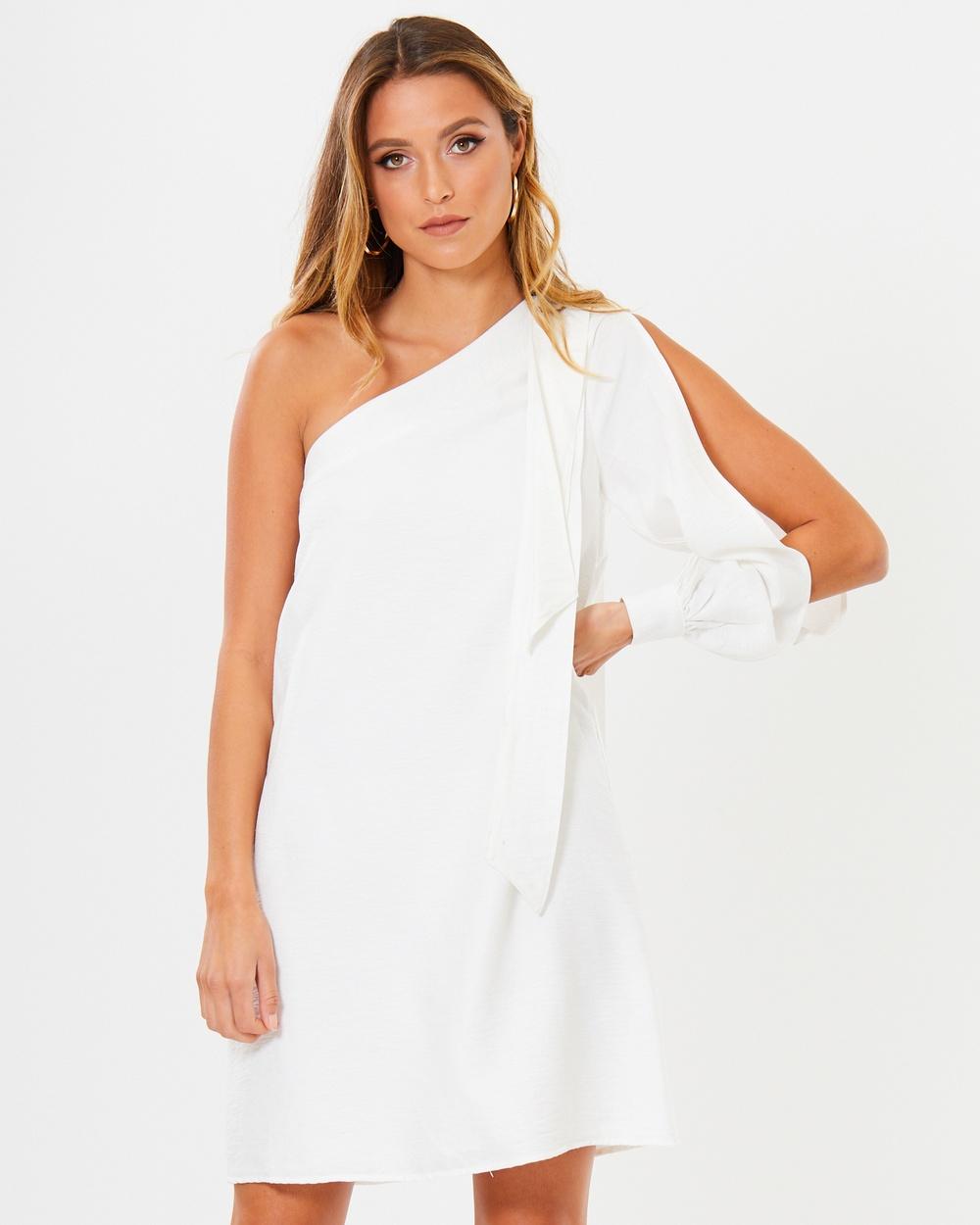 Calli Billi One Shoulder Dress Dresses White Billi One-Shoulder Dress