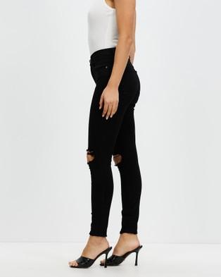 Nobody Denim - Cult Skinny Ankle Jeans - Crop (Black Distress) Cult Skinny Ankle Jeans