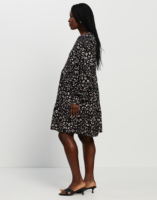 Women Pearla Animal Print Maternity Dress