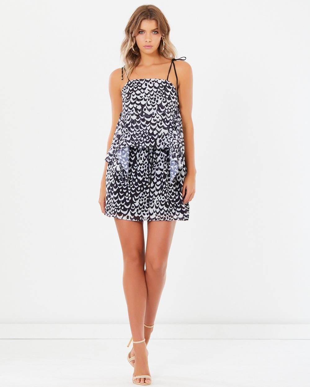 Tussah Rebekah Ruffle Dress Printed Dresses Wild Nature Print Rebekah Ruffle Dress