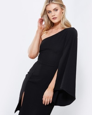Tussah – Atlanta Asymmetric Dress Black