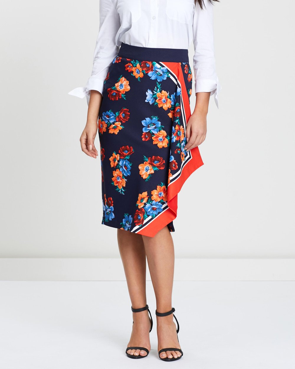 e65a80cb Scarf Print Pencil Skirt by Oasis Online | THE ICONIC | Australia
