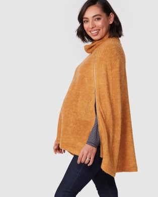 Pea in a Pod Maternity Ren Nursing Cape - Coats & Jackets (Gold)