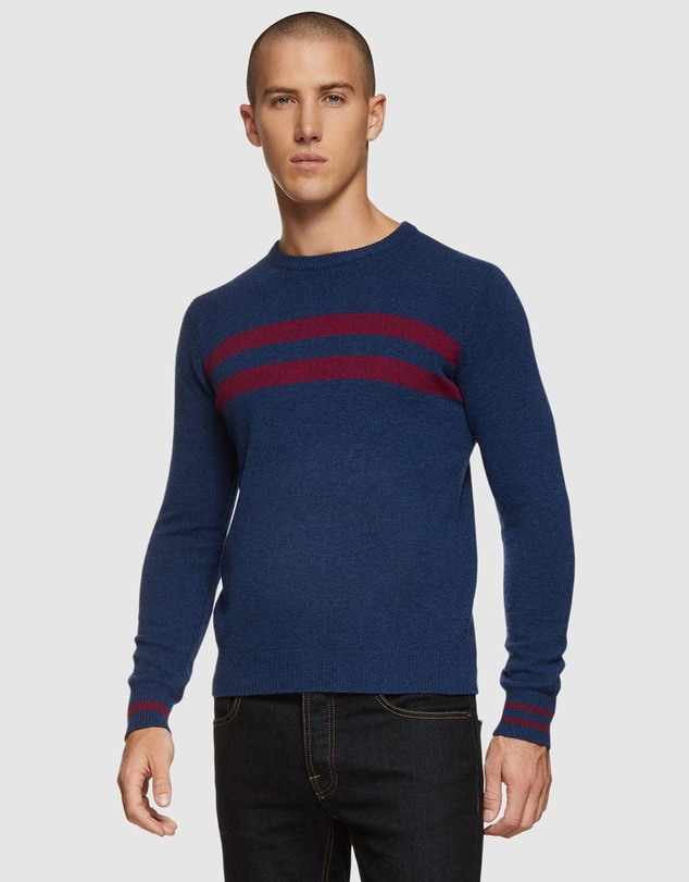 Oxford - Archie Contrast Stripe Crew Neck