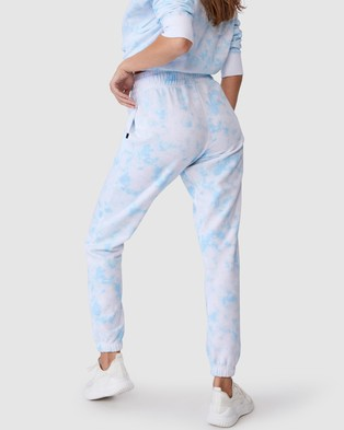 Cotton On Body Active Lifestyle Gym Track Pants - Sweatpants (Baby Blue Tie Dye)