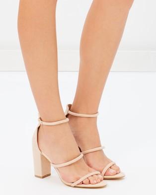 Billini - Marlie Block Heels - Sandals (Nude Suede) Marlie Block Heels