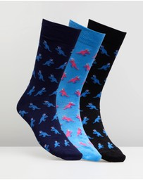 Paul Smith - 3-Pack Dino Socks