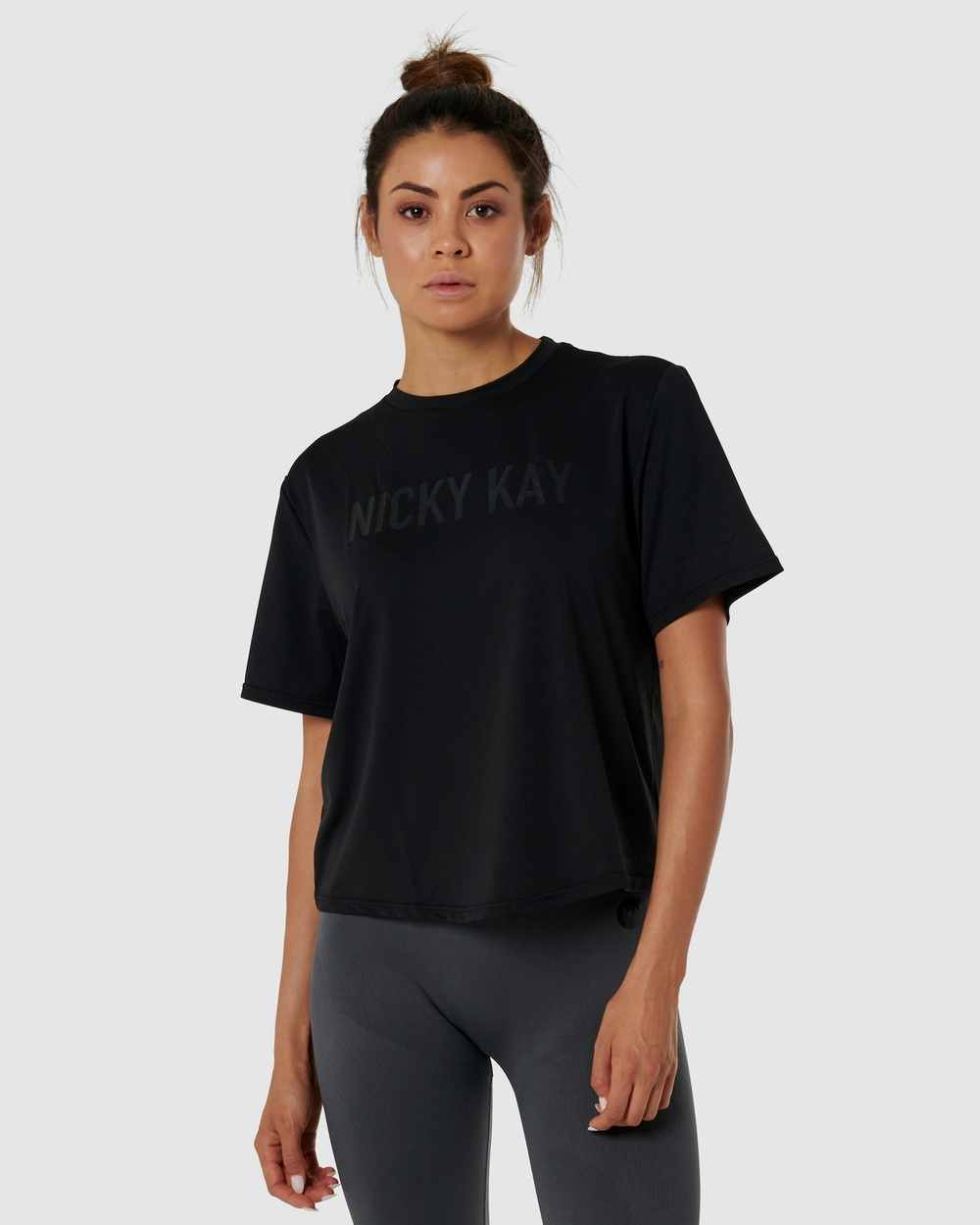 Nicky Kay QuickDry Logo Tee Muscle Tops Black