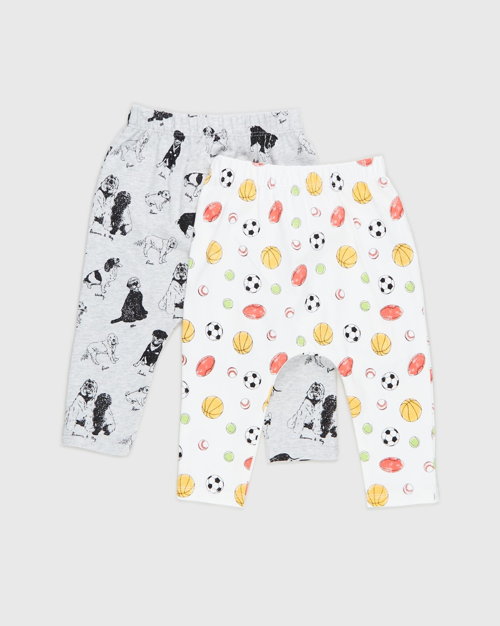 Cotton On Baby 2 Pack Leggings Babies Pants Puppy Party & Sport Crazy 2-Pack Australia