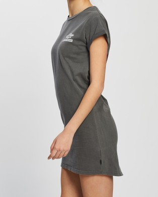 Silent Theory Aerial Tee Dress - Dresses (CHARCOAL)
