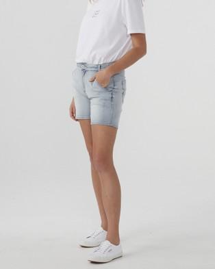 Jac & Mooki Denim Shorts - Denim (vintage wash)