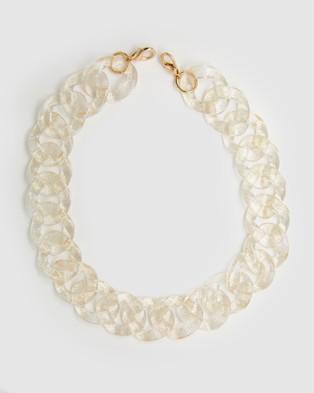Brie Leon - Acetate Chain Strap - Handbags (Gold) Acetate Chain Strap