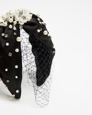 Morgan & Taylor Sibella Headband - Hair Accessories (Black & White)
