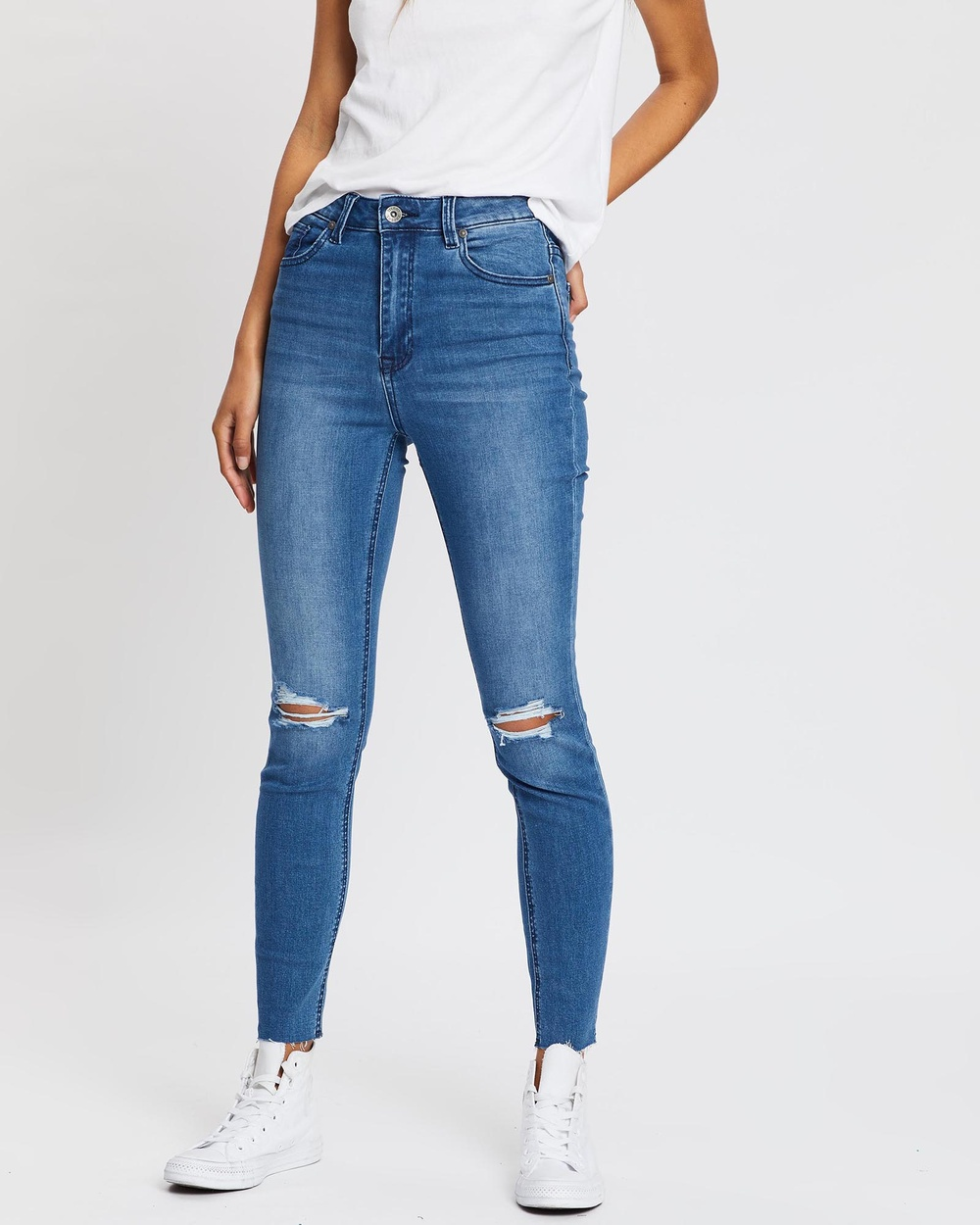 Silent Theory The Vice High Skinny Jeans High-Waisted BLUE Australia