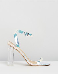 SPURR - ICONIC EXCLUSIVE - Cinder Perspex Heels