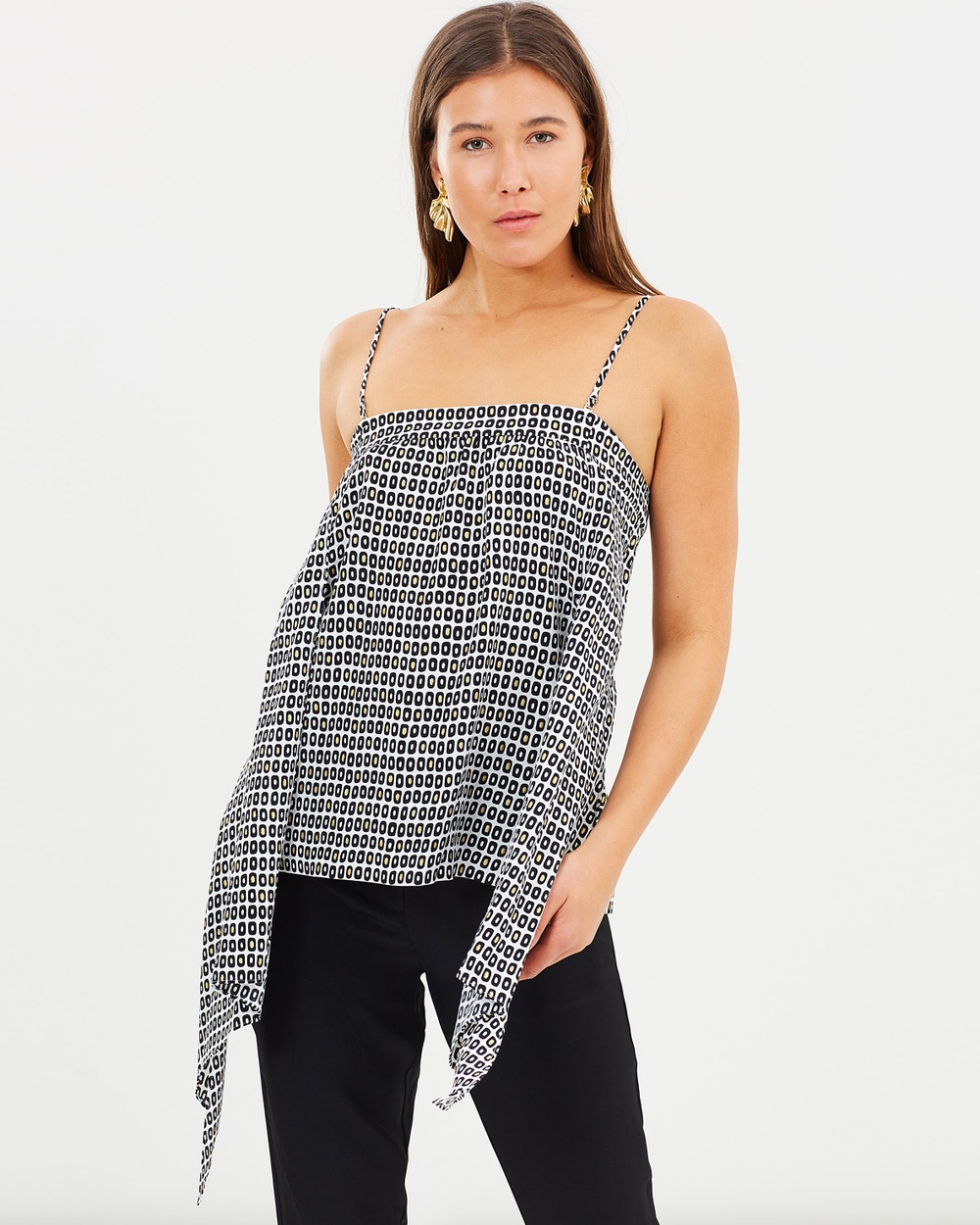 Sass & Bide The Cut Strappy Top Tops Print The Cut Strappy Top