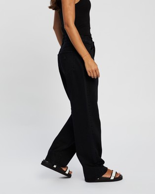 Abrand A Slouch Jeans - High-Waisted (Black)