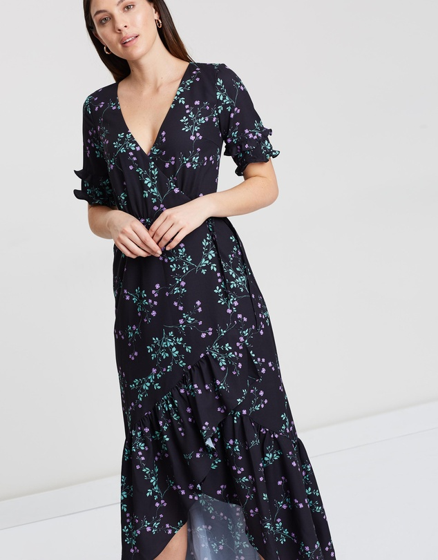 Cooper St - Firefly Tie Maxi Wrap Dress