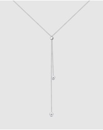 Elli Jewelry - Necklace Y-Chain Ball Basic Minimal Adjustable in 925 Sterling Silver